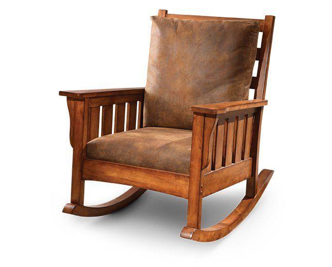 Craftsman Rocker Furniture Row Rocking Chair Classic Rocking