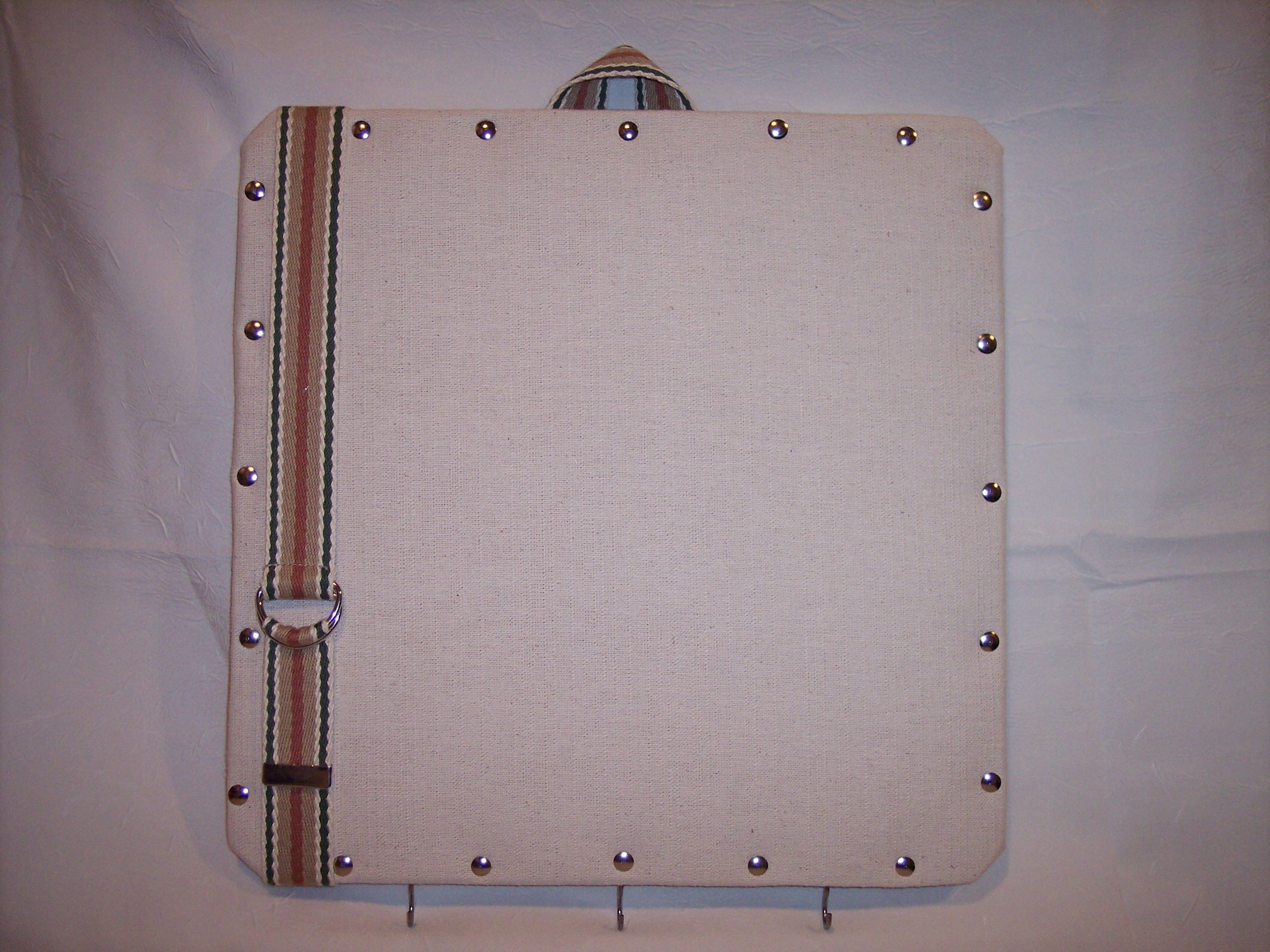 """14""""x15"""" Ivory Canvas covered Cork Memo Board & Keyholder by Marlo Custom Creations on ETSY"""