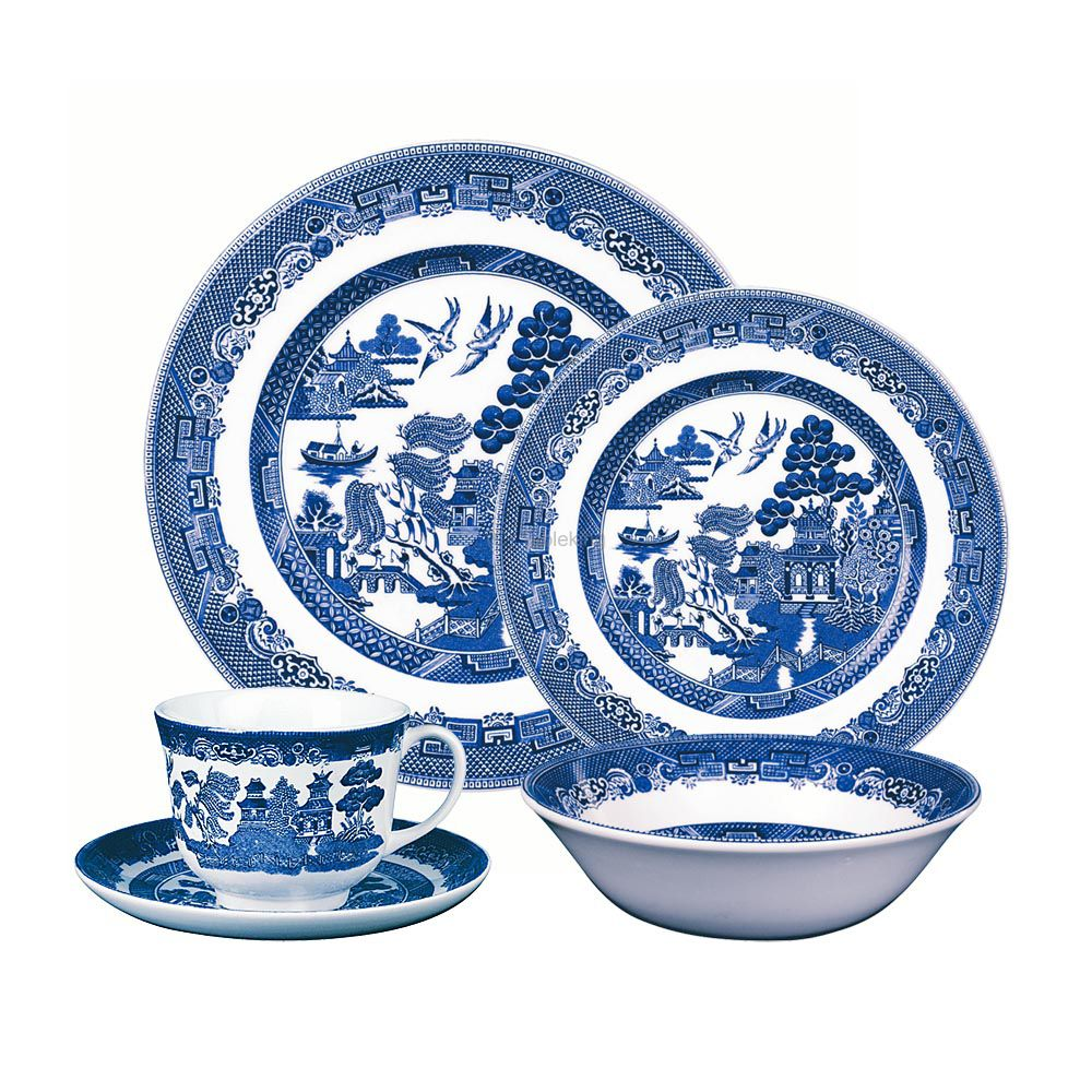 Johnson Brothers Blue Willow 12 Person Dinner Set Exclusive To Tableking Australia Blue Willow Blue Willow China Johnson Brothers