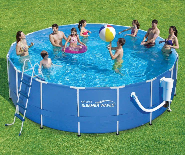 """Summer Waves 17' x 52"""" Metal Frame Pool Big Lots"""