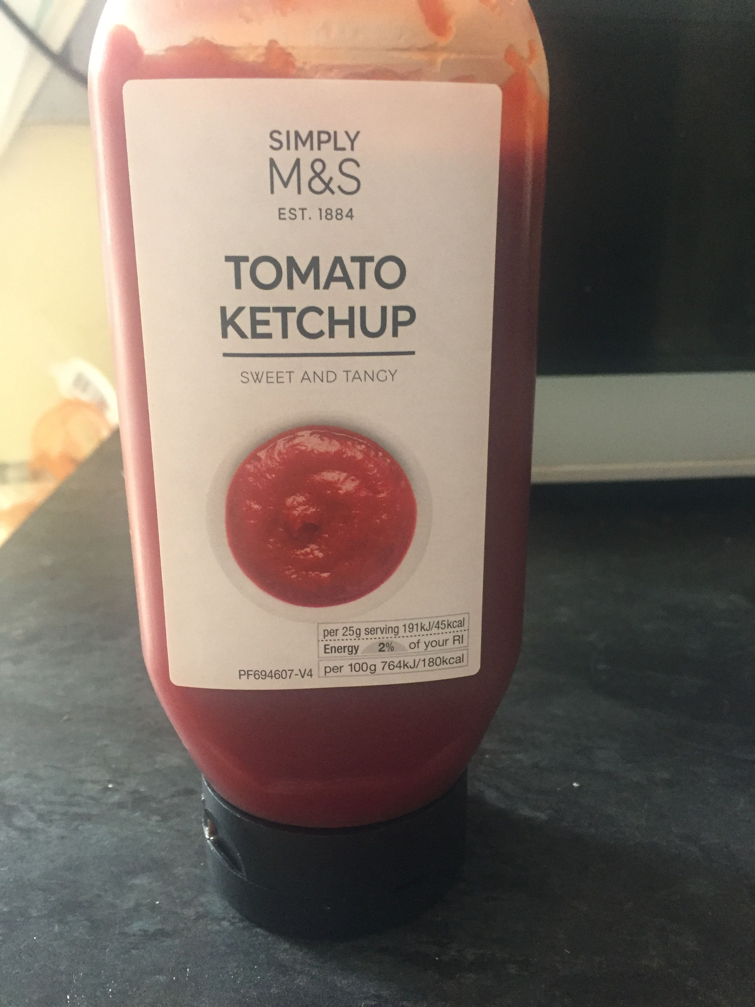 This Is A Ketchup Bottle From Marks And Spencer S The Label Used Is Plain And Simple Compared To The Tesco S One I Think This Ketchup Bottle Wine Bottle Bottle