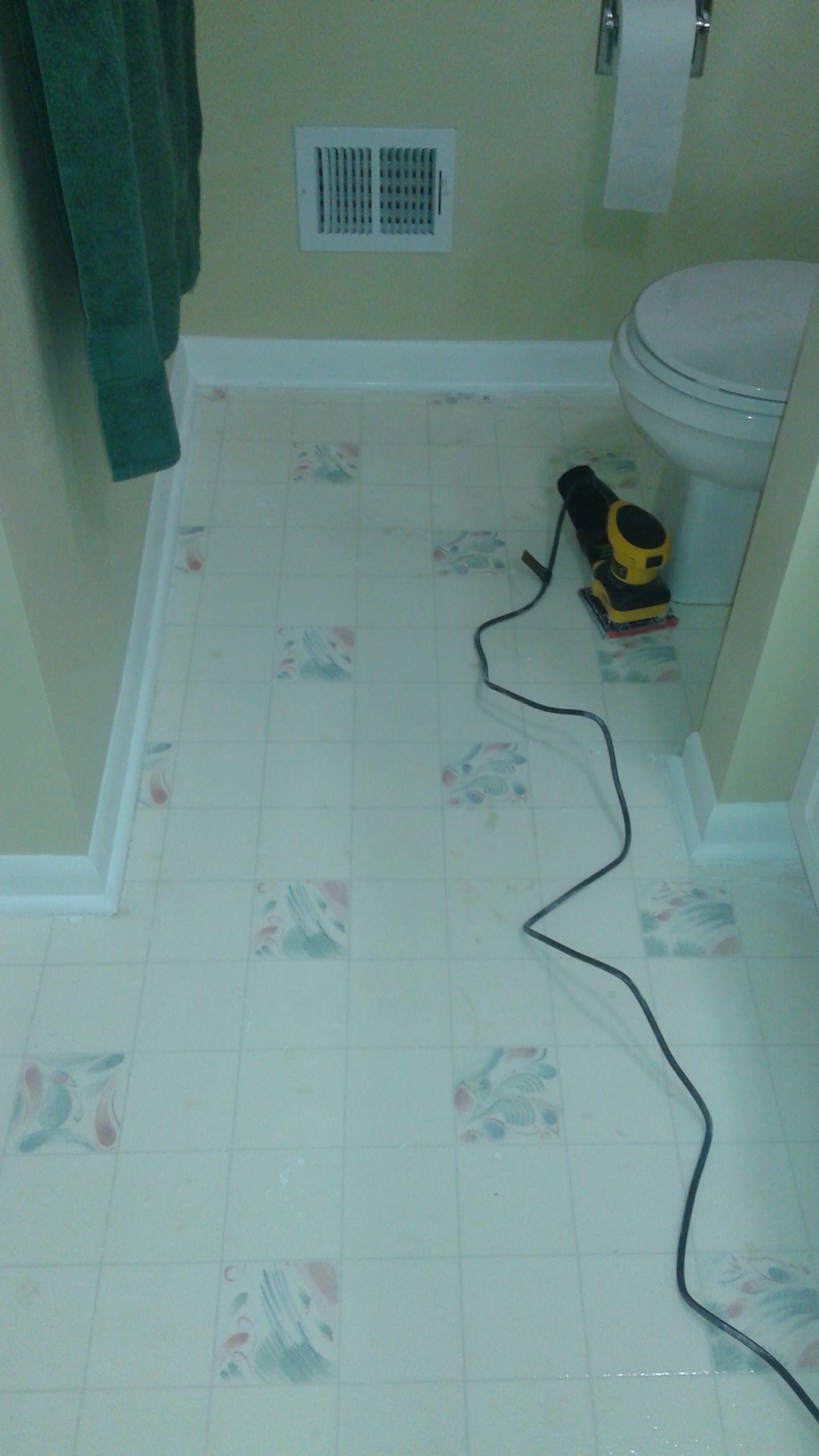Hideous Linoleum Floor In Boys Bathroom