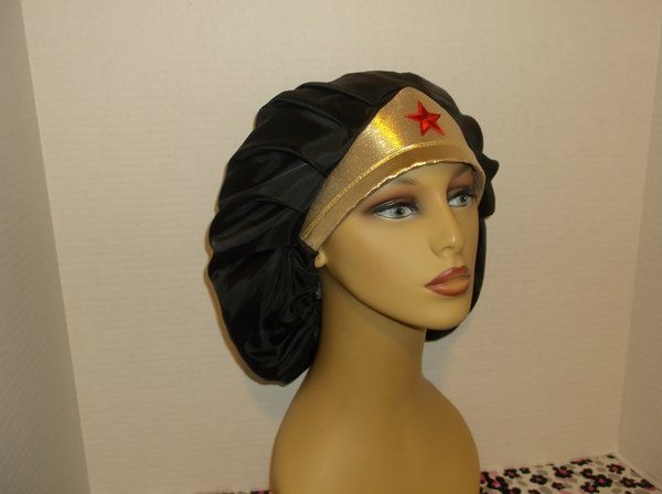 6f31be330 Wonder Woman with Tiara Head Band Bouffant Surgical Scrub Hat ...