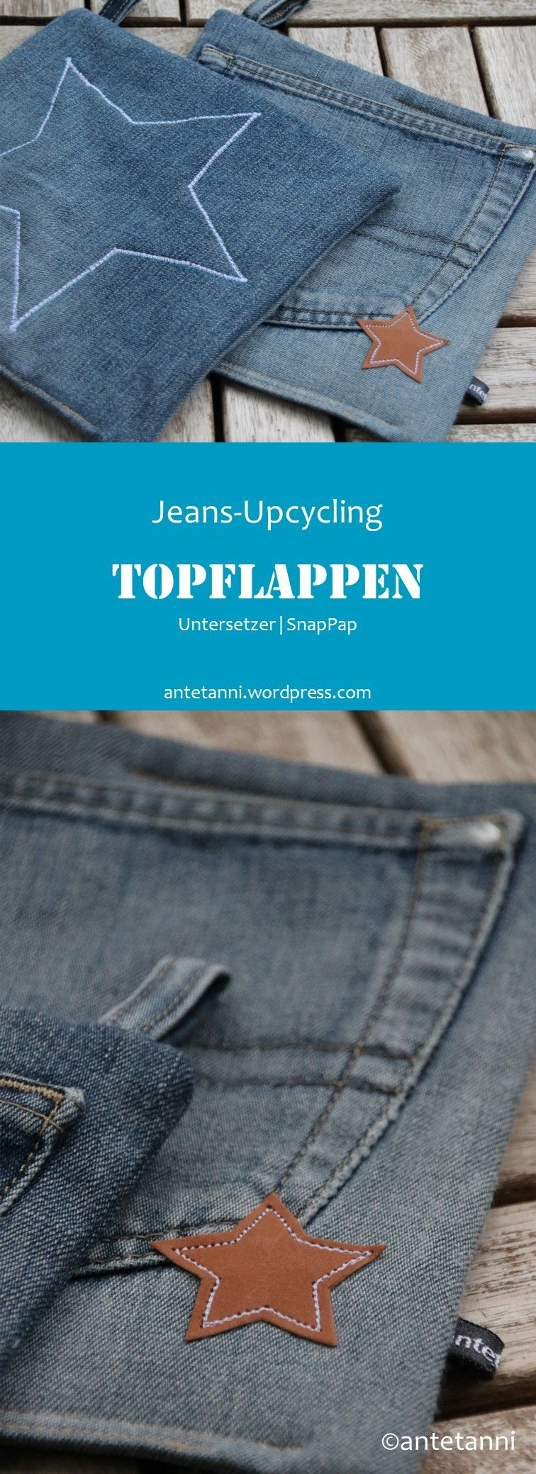 Photo of Topflappen Untersetzer Jeans-Upcycling
