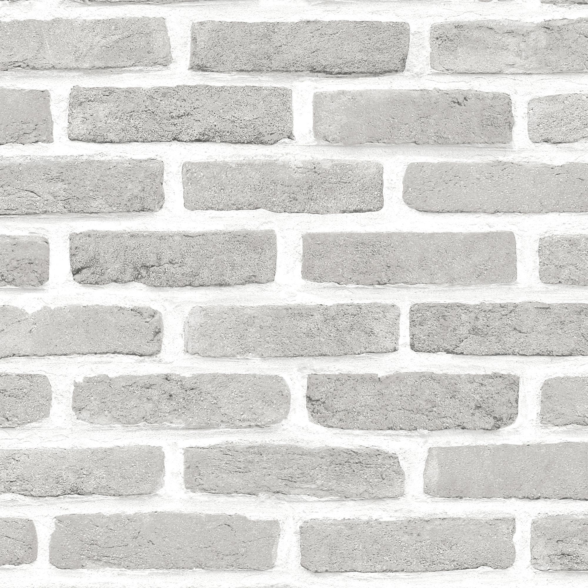 Best Grey Brick Effect Wallpaper Departments Diy At B Q Grey Brick Effect Wallpaper Brick 400 x 300