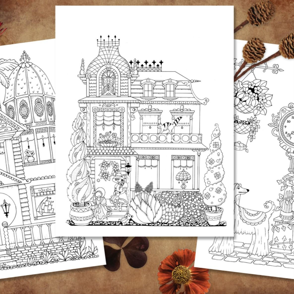 Victoriana Coloring Book Print At Home In 2020
