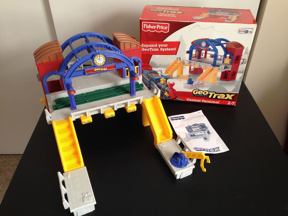 fisher price geotrax central terminal w box manual complete grand rh pinterest com GeoTrax Train Fisher-Price GeoTrax Train Set