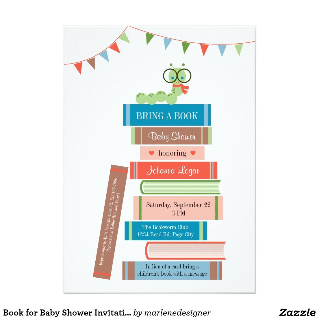 Book for Baby Shower Invitation | Pinterest | Shower invitations ...