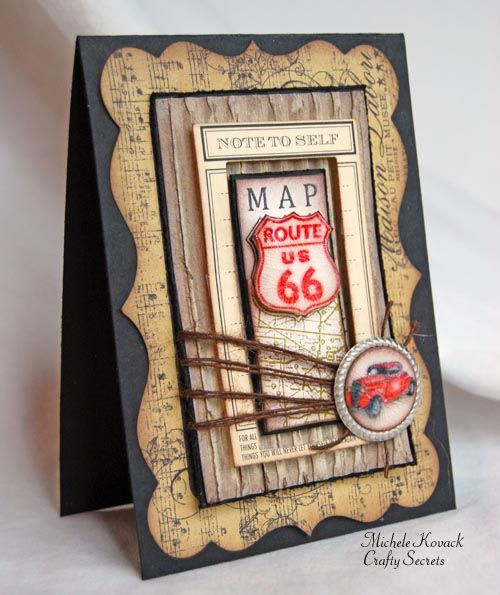 Thoughts of a Cardmaking Scrapbooker!: Crafty Secret's Masculine Challenge!