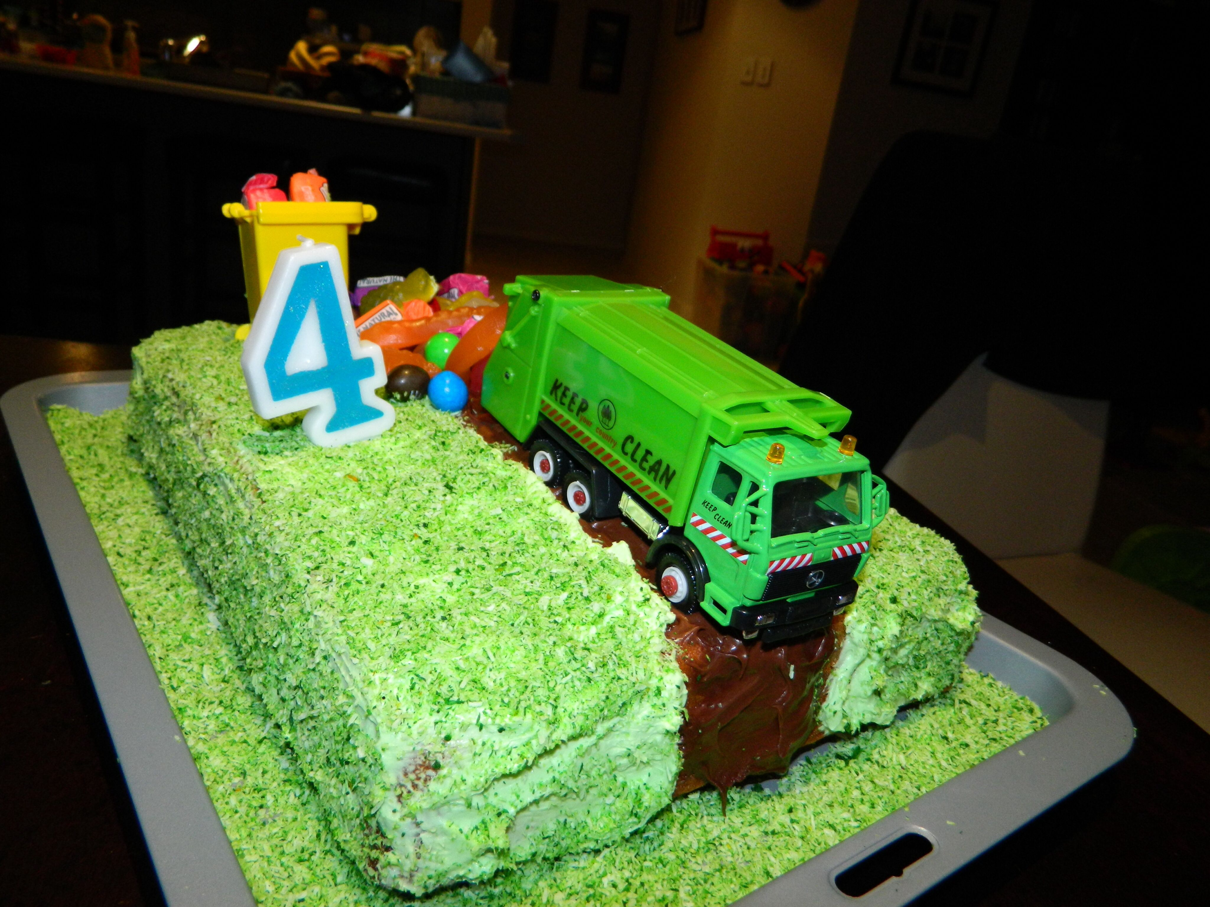 4th Birthday Garbage Truck Cake Party Cakes Designs