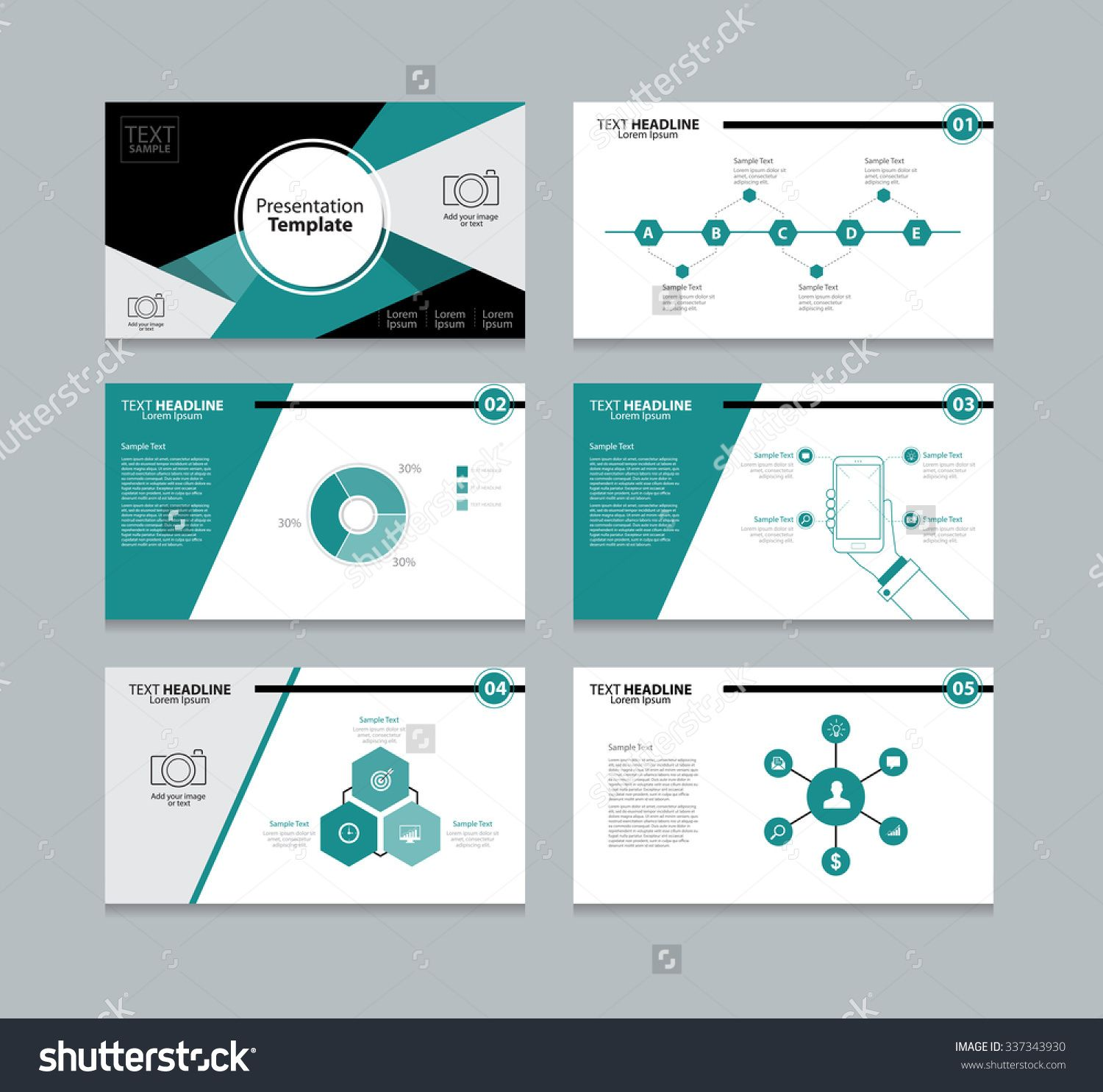 abstract vector business presentation template slides