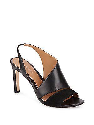 Elie Tahari Harper Leather & Suede Asymmetrical Pumps - Black - Size 3