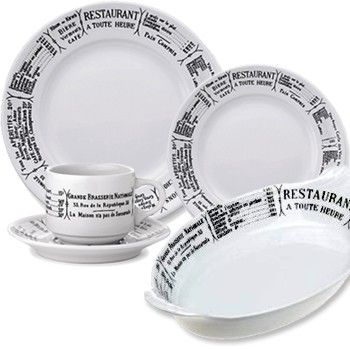 French Brasserie Dinnerware u0026 Bakeware by Pillivuyt \\ states 24 hour restaurant in French with  sc 1 st  Pinterest & French Brasserie Dinnerware u0026 Bakeware by Pillivuyt \\ states 24 ...
