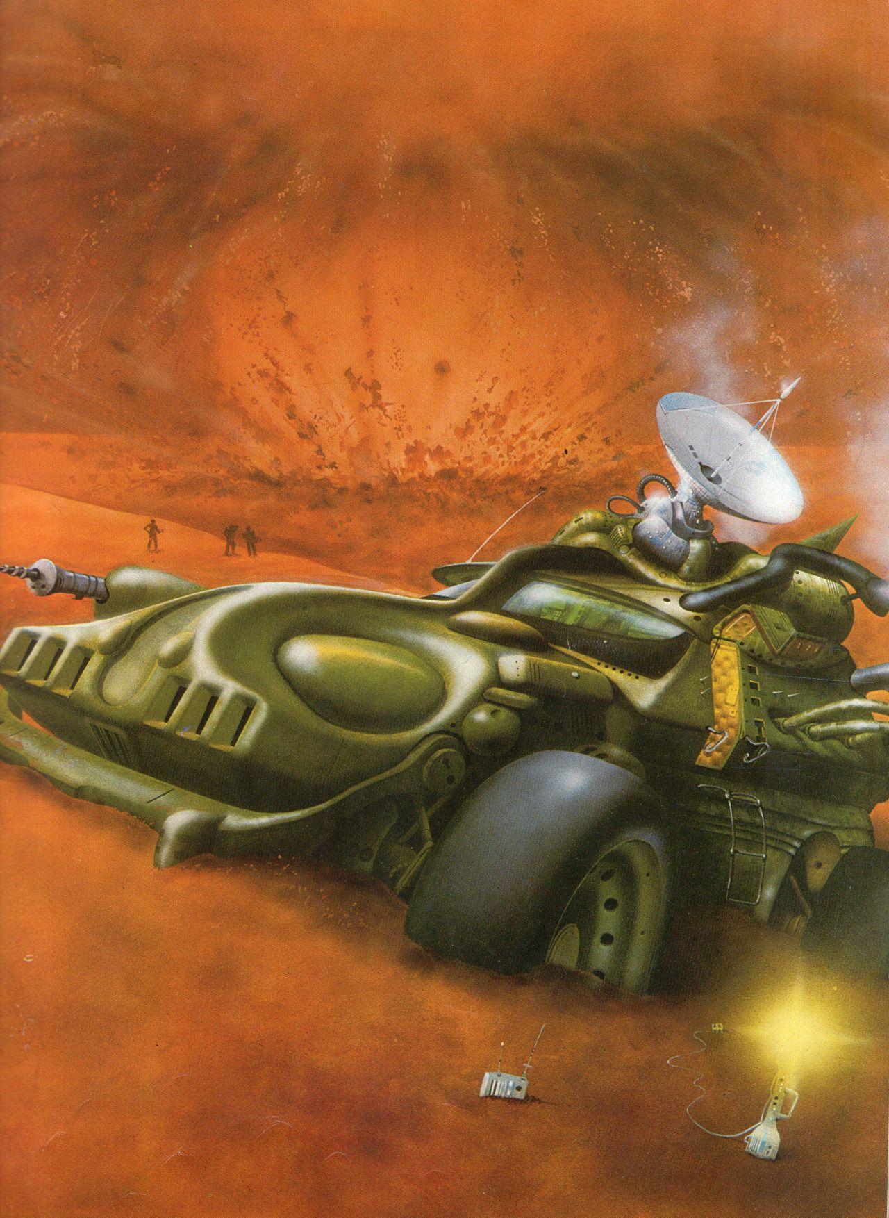 Artwork from the book Great Space Battles published in 1979 Artwork