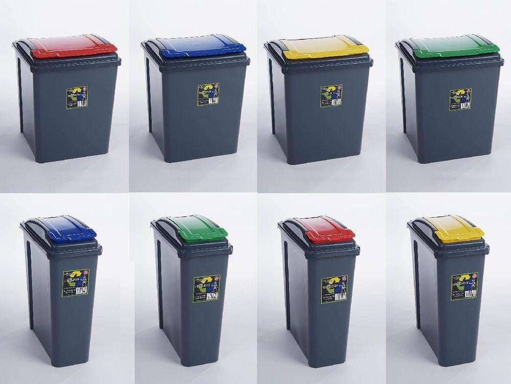 Plastic Recycle Recycling Bin Kitchen Dustbin Garden Waste