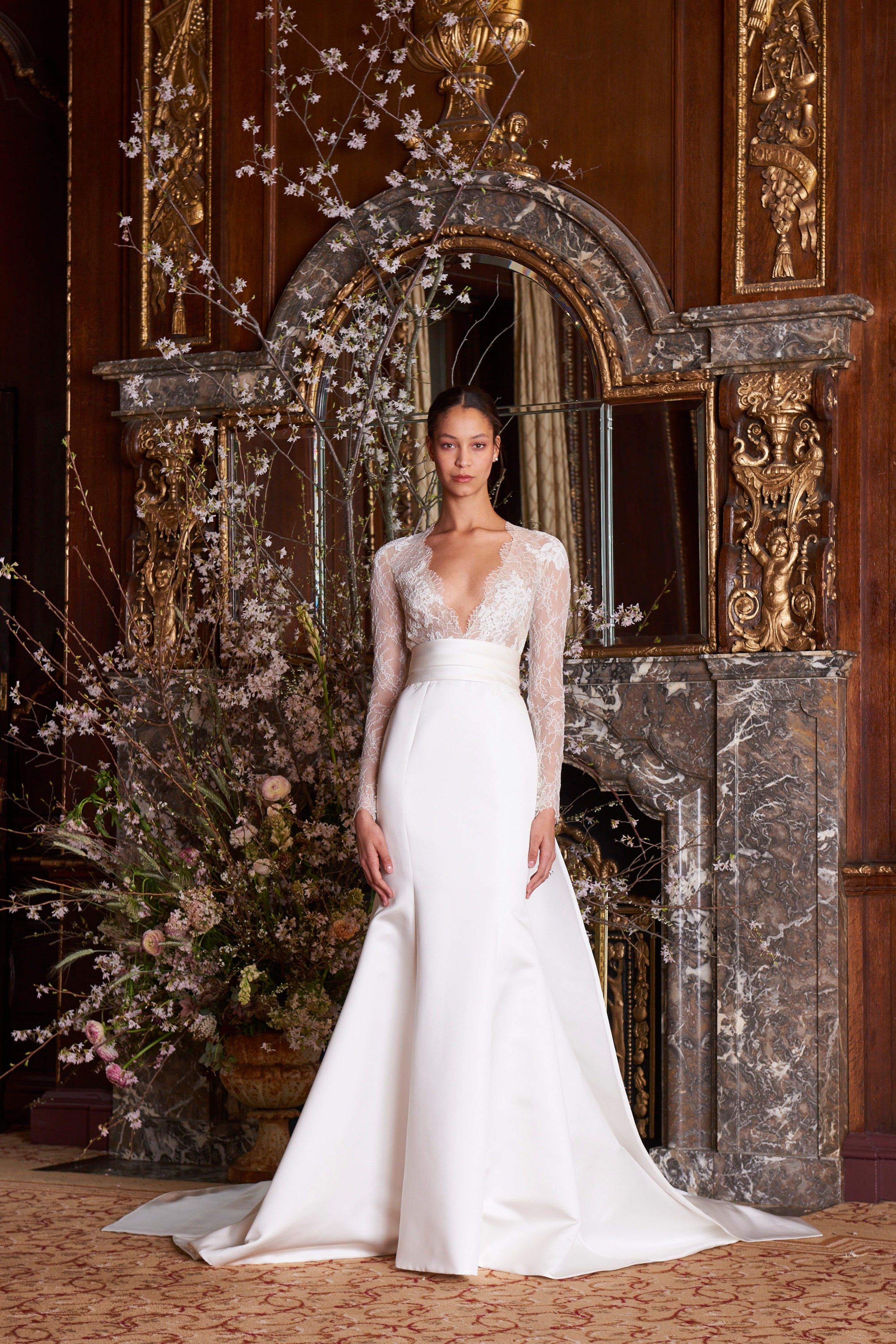 Monique Lhuillier Spring 2019 Bridal New York Collection Vogue