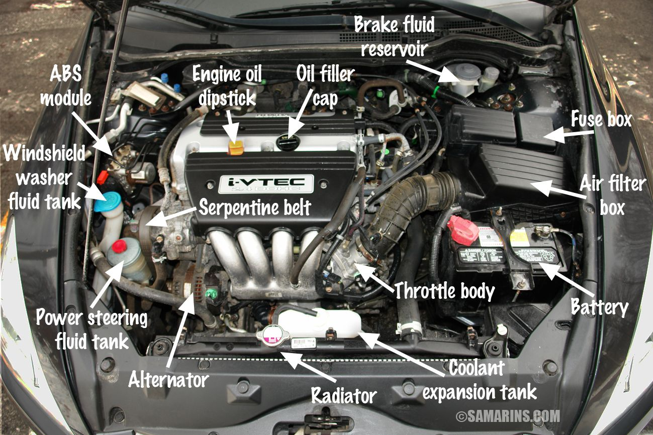 what s under the hood of your 2 4l 4 cylinder honda accord 2003 honda accord 2003 07 problems and fixes fuel economy specs photos honda accord  [ 1299 x 866 Pixel ]