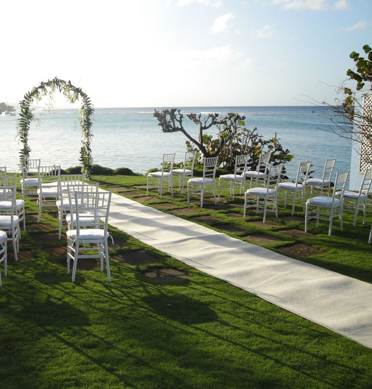 Wedding Ceremony Location Overlooking The Caribbean Sea At