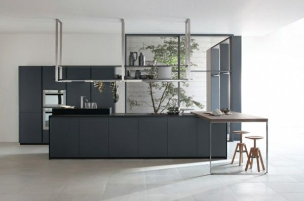 20 moderne kücheninsel designs - grau kücheninsel designs ... - Graue Kche