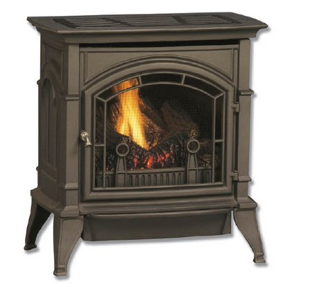 Venfree Cast Iron Gas Stove Graphite 10 000 Btu Vent Free Gas Fireplace Stove Fireplace Propane Stove