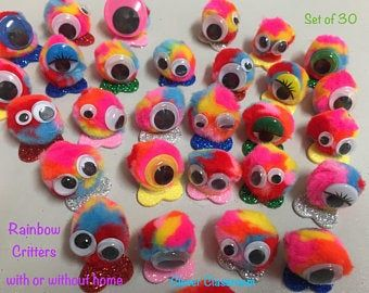 Glitter Classroom Quiet Critters - pompom creatures to use for classroom behaviour