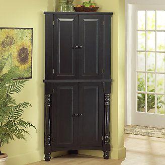 Corner Pantry From Homevisions 41587 Corner Pantry Corner Pantry Cabinet Living Room Design Inspiration