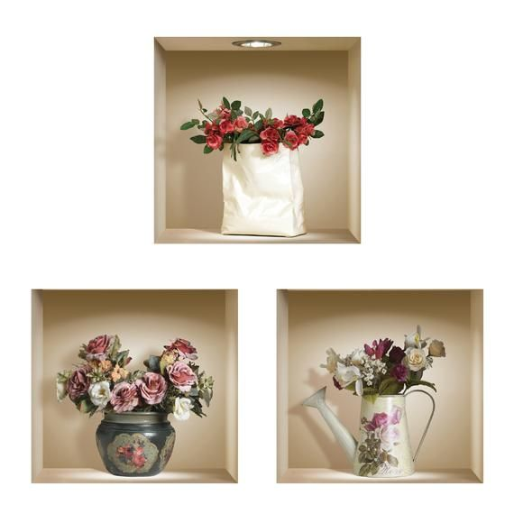 free shipping new set 3 romantic wall stickers 3d art on wall stickers 3d id=31036