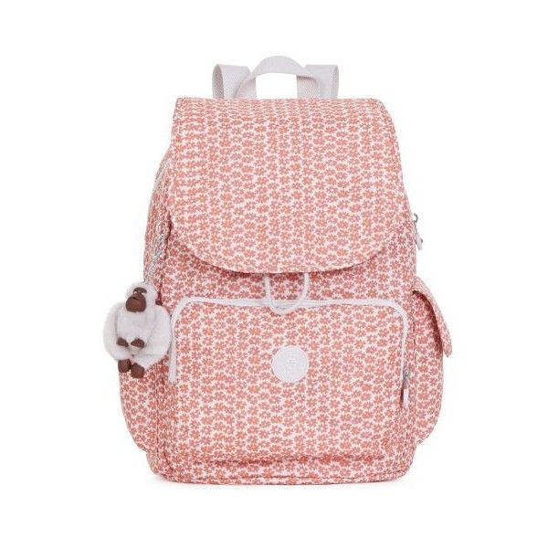 Kipling Ravier Printed Backpack ($90) ❤ liked on Polyvore featuring bags, backpacks, poppy spray, cinch bag, poppy bag, kipling bags, knapsack bag and cinch backpack