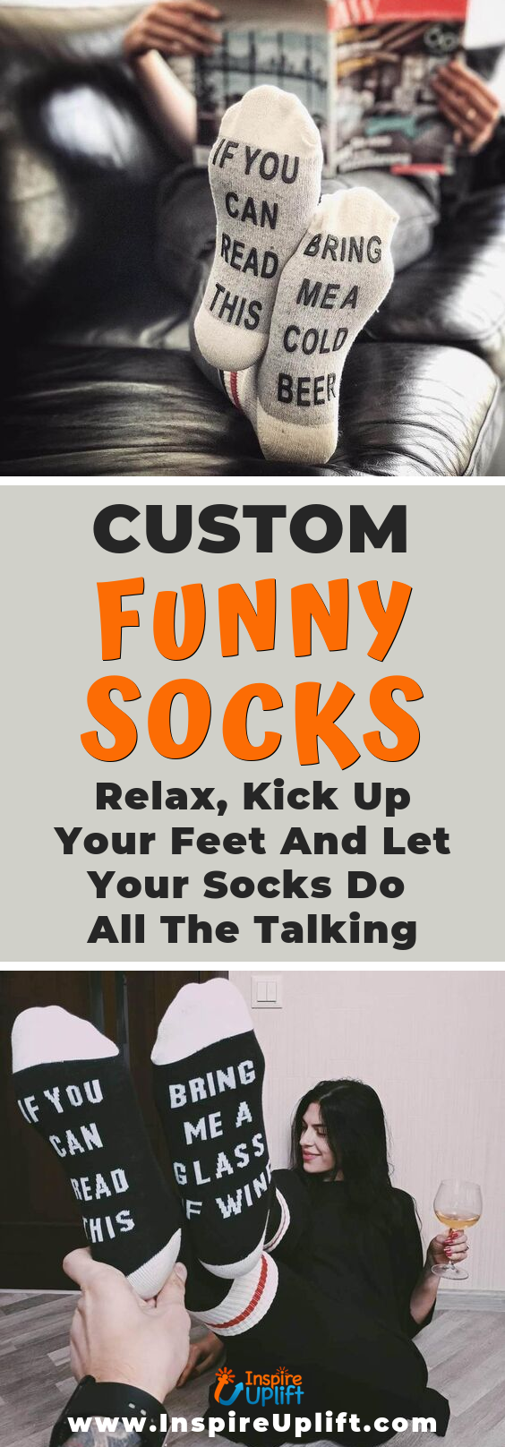 Custom Funny Socks 😍 InspireUplift.com