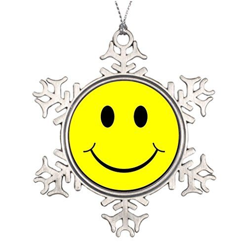 Darlingz Large Christmas Tree Snowflake Ornaments Happy smiley face Santa Decorations >>> To view further for this item, visit the image link.