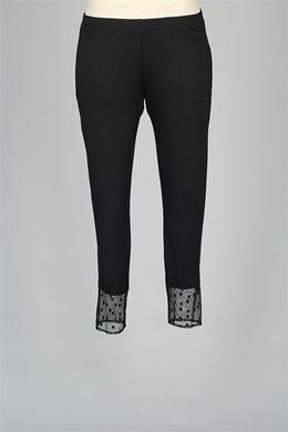 Comfy USA - Mesh Contrast Legging - Black Polka Dot $62