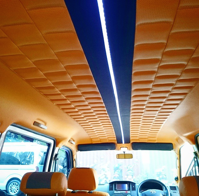10 cool custom headliners on instagram auto addiction interiors cars custom car interior for Auto interior customizing shops