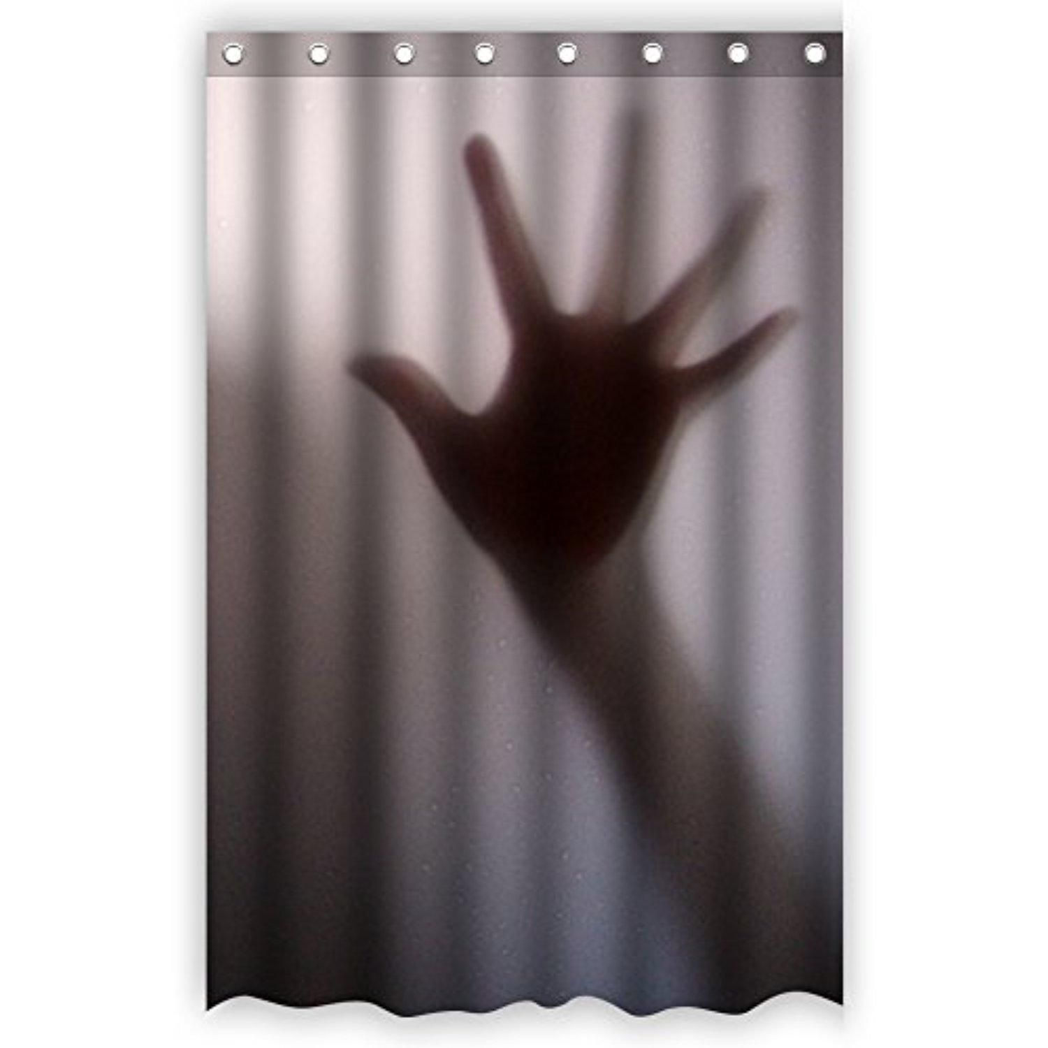 Bart Help Me Shadow Of Hands Behind Frosted Glass Bathroom Shower Curtain 48 Inch By 72 Inch Unique And Curtain Designs Glass Bathroom Bathroom Shower Curtains