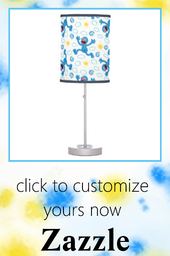 Crayon Grover Sunshine Pattern Table Lamp #sesame #street #kids #puppets #children #TableLamp