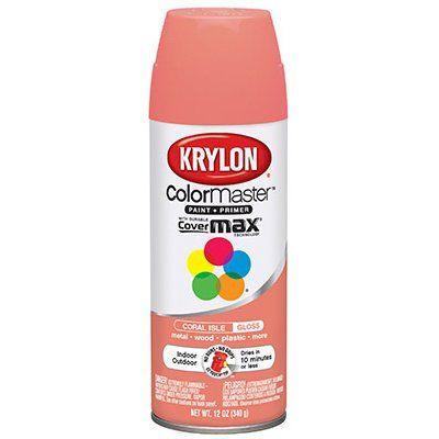 Krylon Colormaster Spray Paint Indoor X2f Outdoor Use Gloss Coral Isle 12 Oz Model K05210302 True Value Outdoor Spray Paint Krylon Aerosol Paint