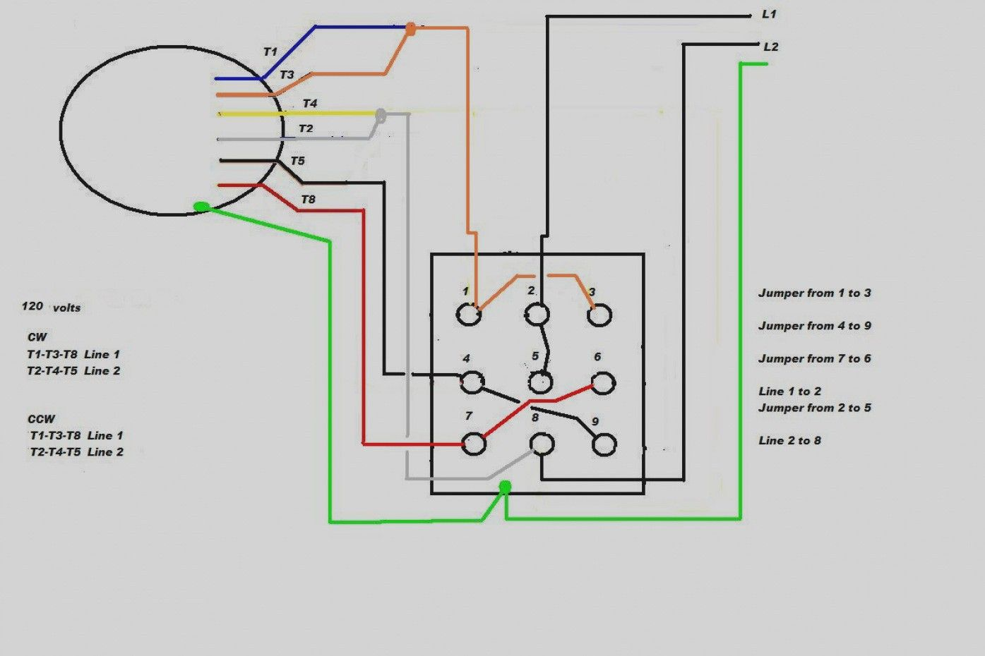 Single Phase Motor With Capacitor Forward And Reverse Wiring Diagram In 2020 Electrical Circuit Diagram Circuit Diagram Capacitors