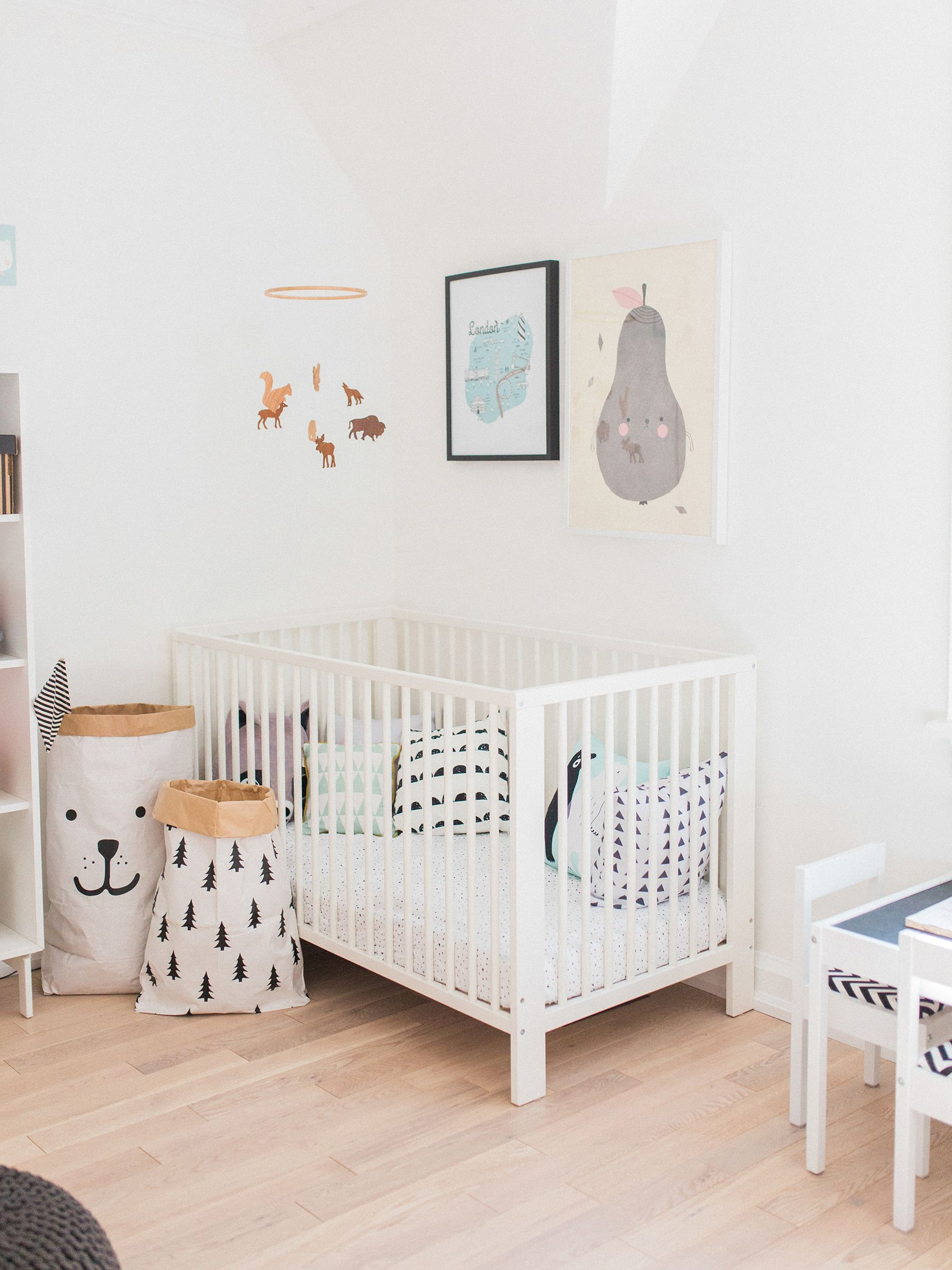 Scandinavian Shared Kids Room Light Filled Pastel Baby
