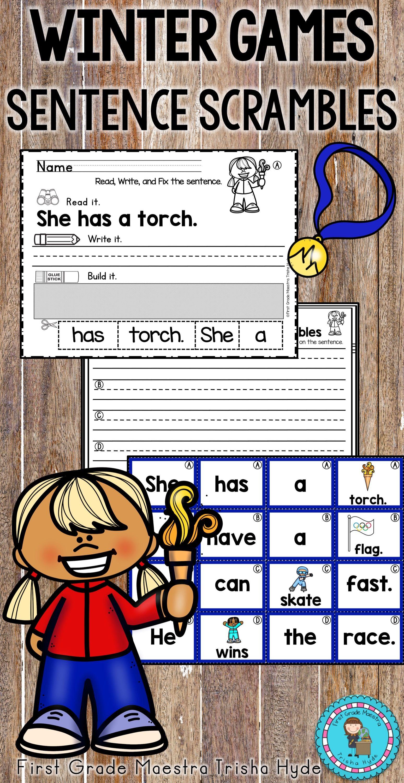 Winter Games Sentence Scrambles Winter Games Winter Kindergarten Olympics Activities [ 3000 x 1548 Pixel ]