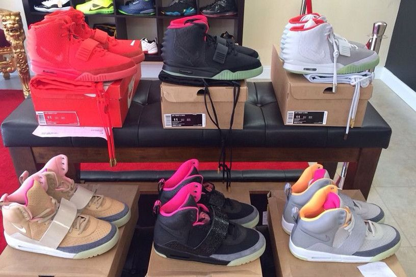 Full Collection Of Kanye S Nike Air Yeezy Sneakers Going For 100k On Ebay Air Yeezy Yeezy Collection Yeezy Sneakers