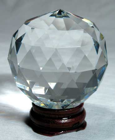 Clear Multi-Faceted 60mm Crystal Ball