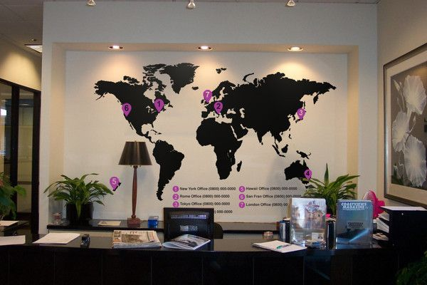 large world map wall sticker- furniture - europe | animal wall