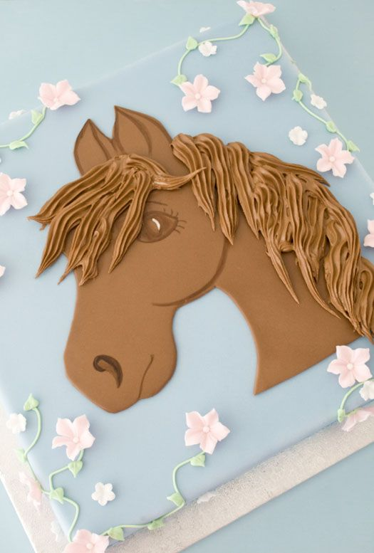 Cake with horse motif Delicious cookies Beautiful cakes and Horse