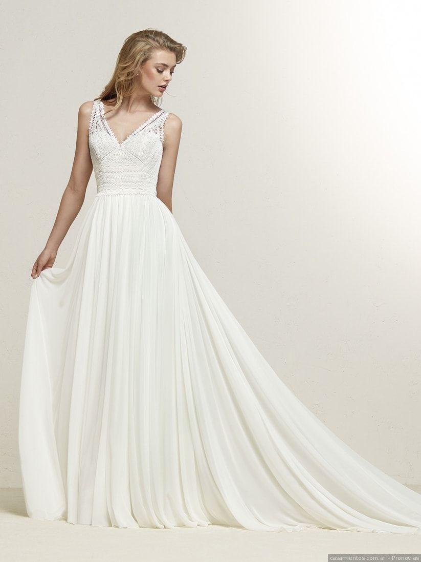 b4c79f31a Vestidos de novia sencillos  50 propuestas singulares