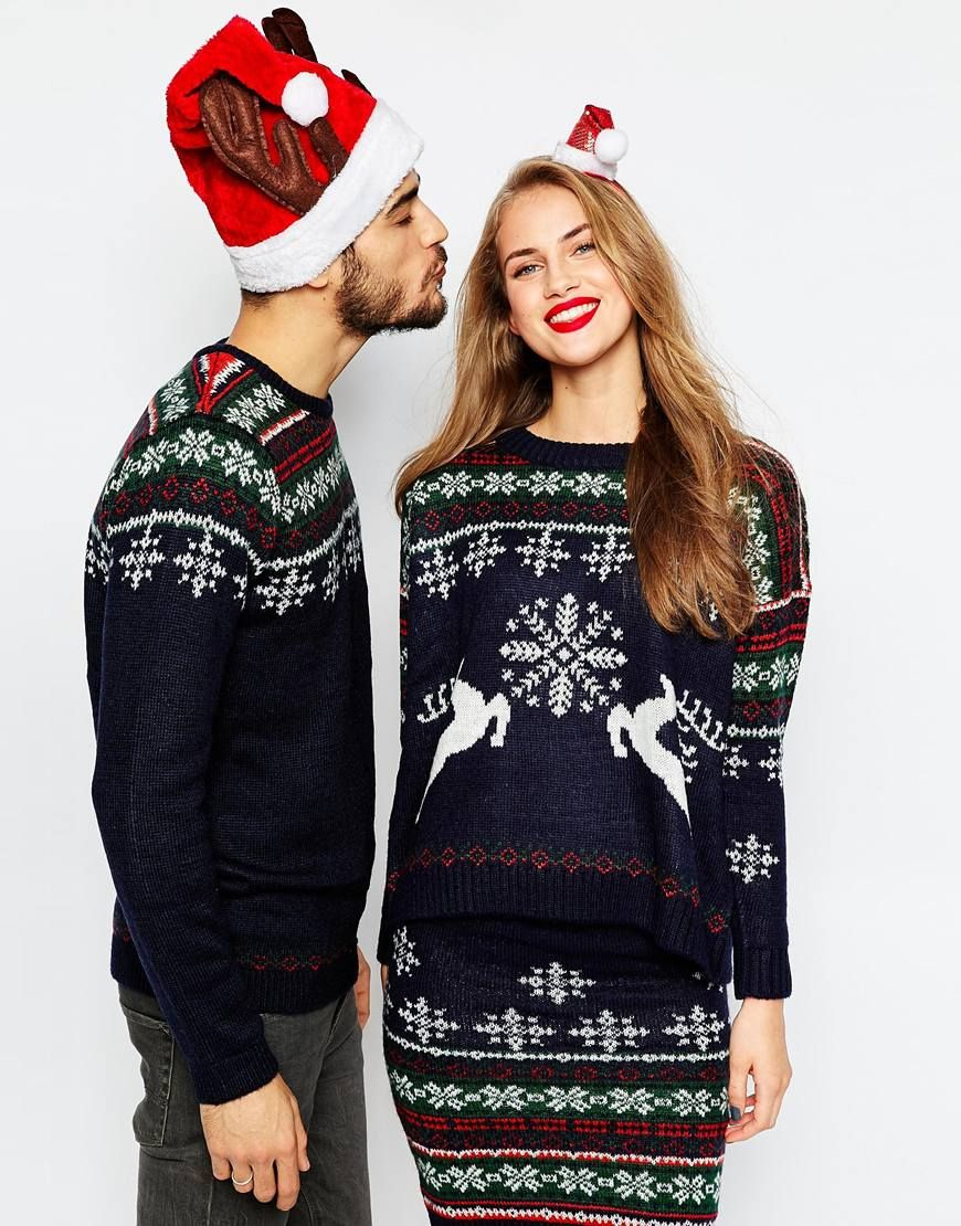 ASOS co-ord Christmas Jumper In Reindeer Fair Isle | all I want ...