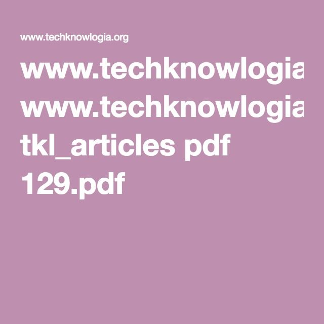 WwwTechknowlogiaOrg TklArticles Pdf Pdf  Apps  Software