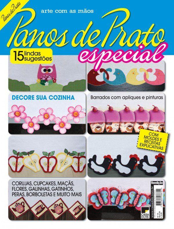 Revista Arte com as Mãos Panos de Prato Especial 18 - Artesanato :: Casa Dois