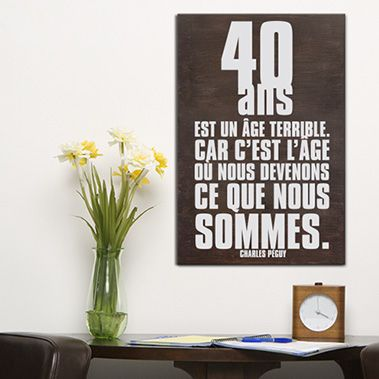 tableau citation en bois id al comme cadeau d 39 anniversaire. Black Bedroom Furniture Sets. Home Design Ideas