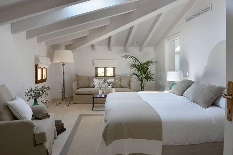 Mediterranes Schlafzimmer ~ Cremefarbene schlafzimmerideen architecture bedrooms and interiors