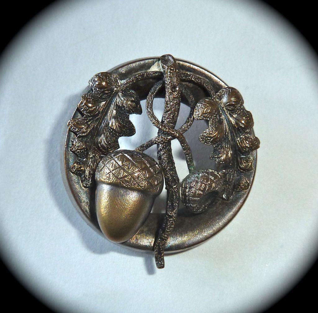 antique silver acorn pin, $50, Ruby Lane
