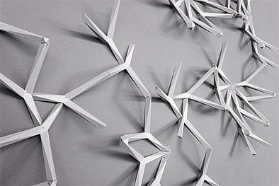 ivy and here wall hangers; tangram shelves | PadStyle | Interior ...